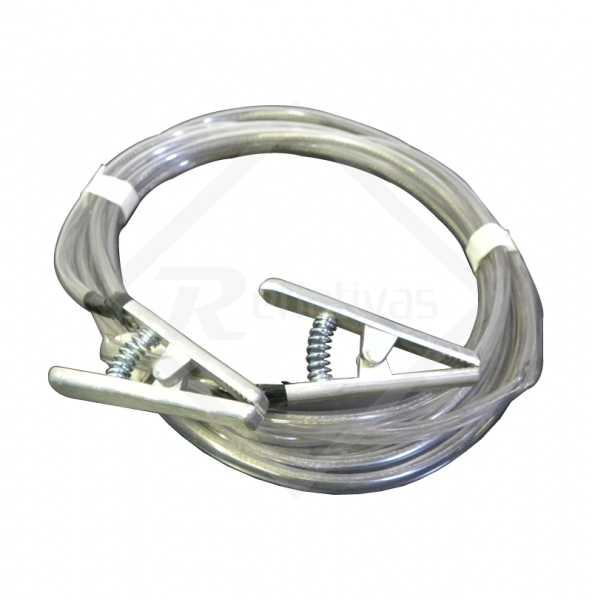 Cabo terra ou cordoalha é produzido com cabo de aço revestido por uma mangueira borracha utilizado para aterramento de maquinas, circuitos elétricos ou veículos de transporte.