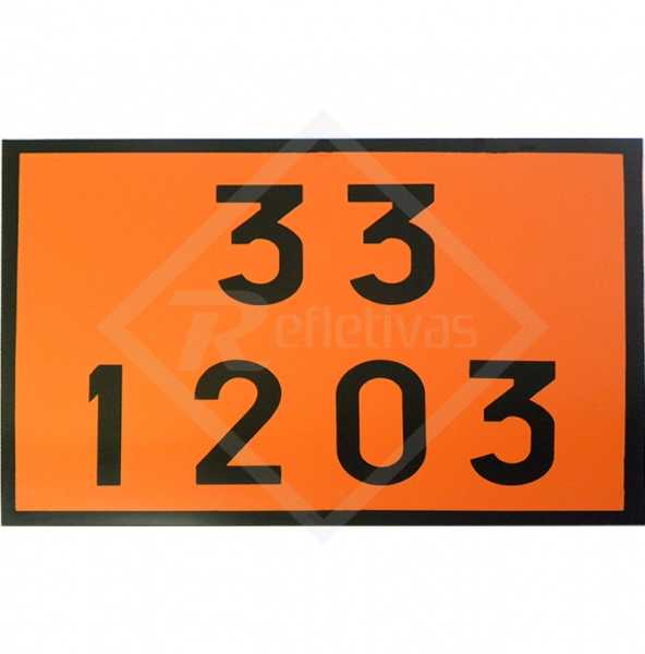 Placa Número ONU - 33 1203