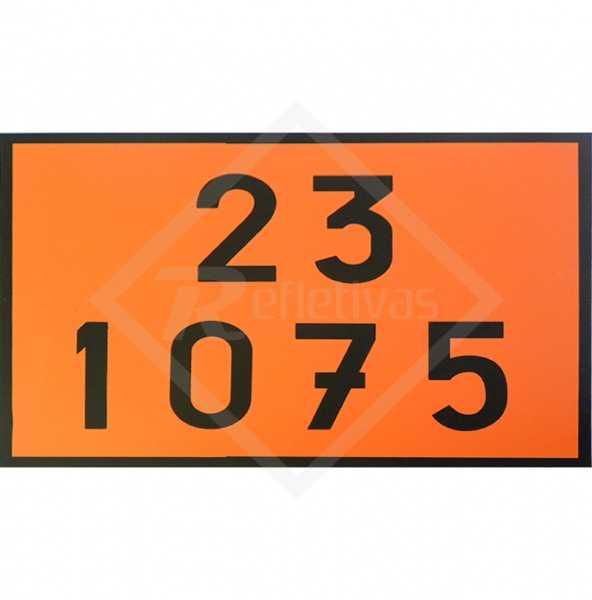 Placa Número ONU - 23 1075