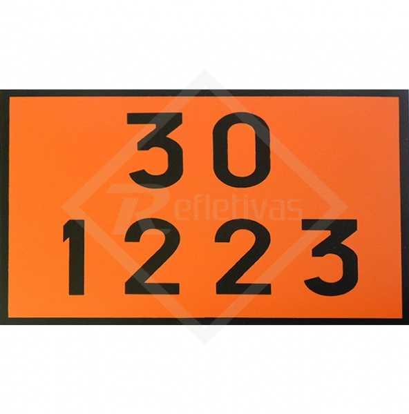 Placa Número ONU - 30 1223