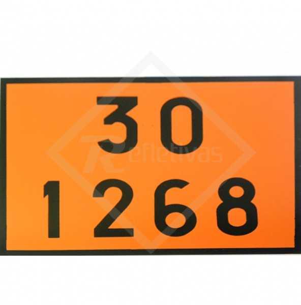 Placa Número ONU - 30 1268