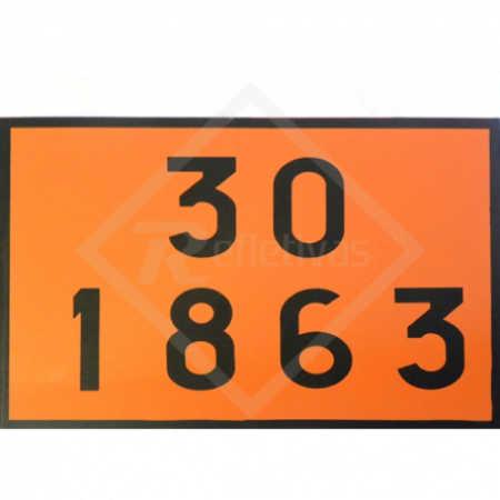 Placa Número ONU - 30 1863