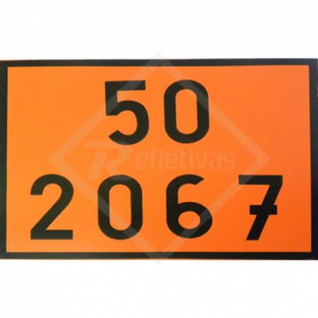 Placa Número ONU - 50 2067