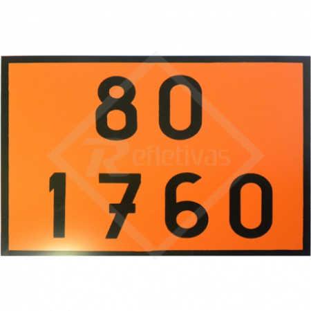 Placa Número ONU - 80 1760