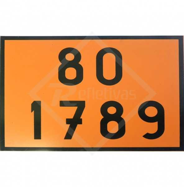 Placa Número ONU - 80 1789