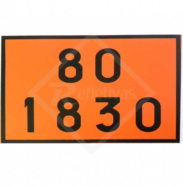 Placa Número ONU - 80 1830
