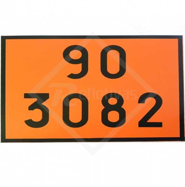 Placa Número ONU - 90 3082