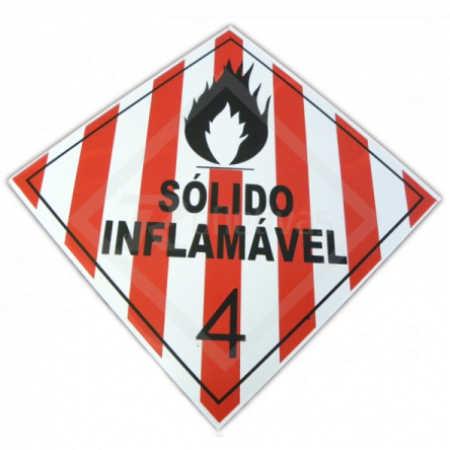 Placa Simbologia ONU - Sólido Inflamável 4 30 x 30