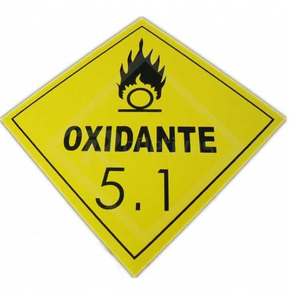 Placa Simbologia ONU - Oxidante 5.1