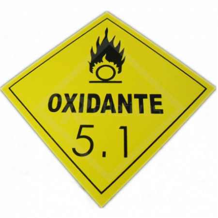 Placa Simbologia ONU - Oxidante 5.1 30 x 30