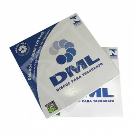 Disco para Tacógrafo - DML - 125 Km/h - Semanal (7 dias)