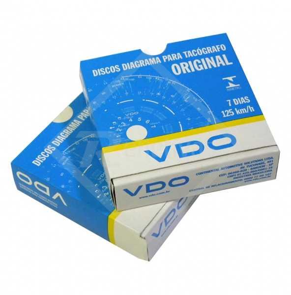Disco para Tacógrafo - VDO - 125 km/h - Semanal (7 Dias)