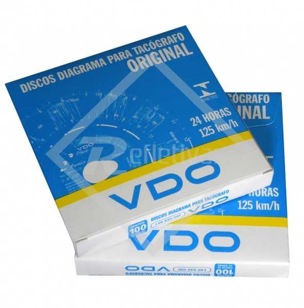 Disco para Tacógrafo - VDO - 125 km/h - Diário (24 Horas)