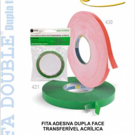 Fita Adesiva Dupla-Face Transferível Acrílica (Gel/Siliconada)
