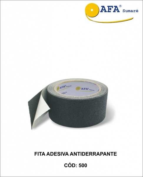 Fita Adesiva Antiderrapante Preta para utilização em áreas escorregadias com o intuito de evitar acidentes.