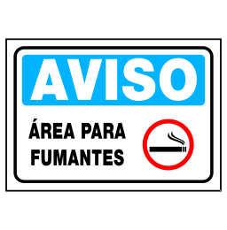Placa Area para Fumantes