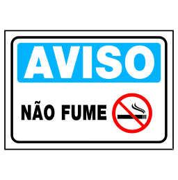 Placa Não Fume