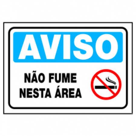 Placa Não Fume Nesta Área