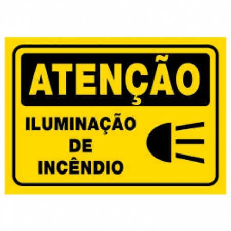Placa Iluminação de Incêndio