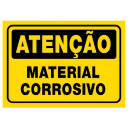 Placa Material Corrosivo