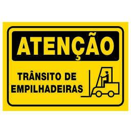 Placa Trânsito de Empinhadeiras