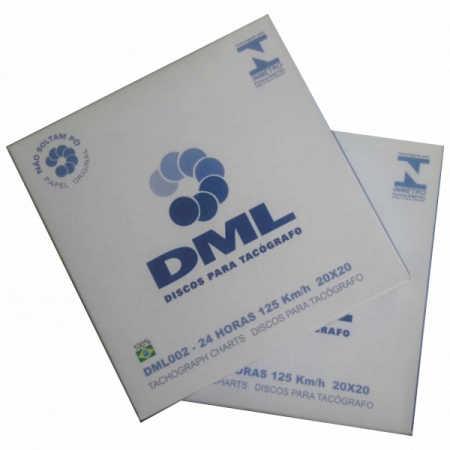 Disco para Tacógrafo - DML - 125 Km/h - Diário - (24 Horas)