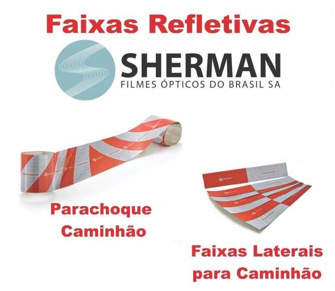 Faixas Refletivas Sherman marca com mais de 10 anos de mercado e material de alta tecnologia e qualidade.