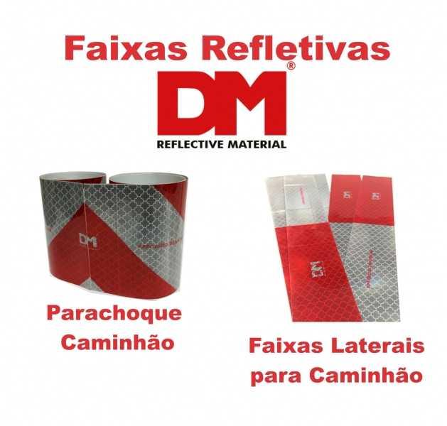 Faixas Refletivas para caminhões da marca DM Refletivos, material com alta tecnologia desenvolvido dentro das especificações da normas vigentes.