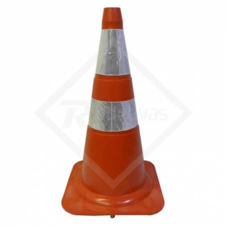 Cone PVC Laranja Refletivo