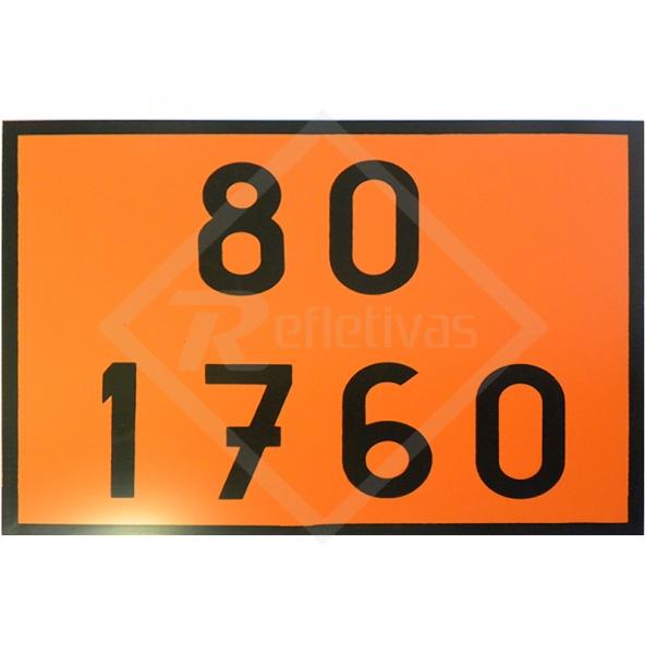 Placa Número ONU - 80 1760 - Refletivas - Sinalizações Automotivas ... 96870a5e8d