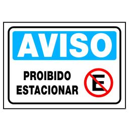 Placa Proibido Estacionar - Refletivas - Sinalizações Automotivas ... f466199e39