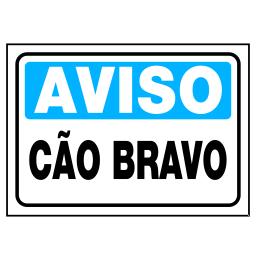 Placa Cão Bravo - Refletivas - Sinalizações Automotivas - Campinas ... 2f37d745aa